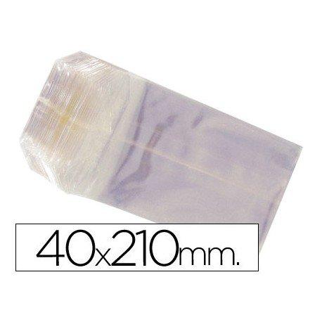 Bolsas de celofan 40x210 mm. Paquete de 100 unidades