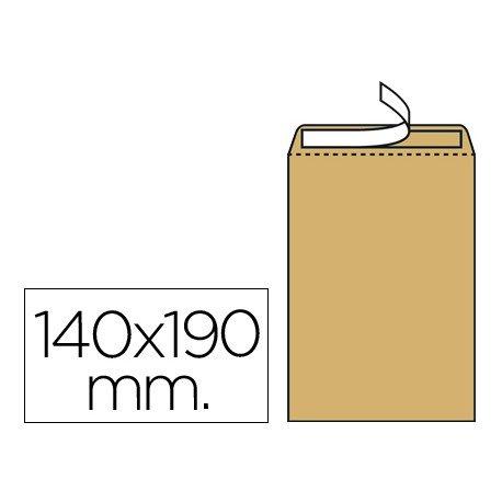 Sobres bolsa kraft Salarios N.4 Liderpapel, 140x190mm