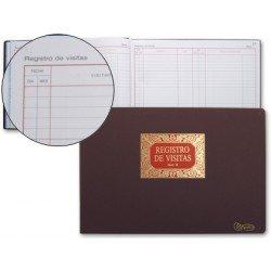 Libro Miquelrius tamaño folio apaisado Registro de visitas