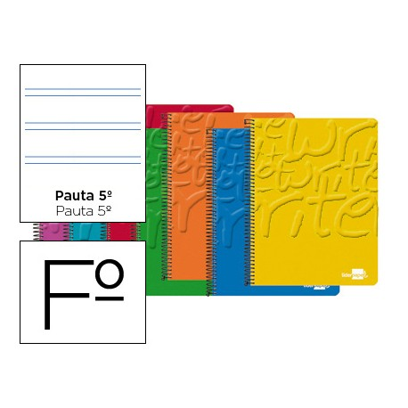 Bloc Liderpapel folio Write pauta estrecha 2,5 mm