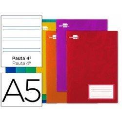 Libreta escolar Liderpapel grapada pauta 3.5 mm