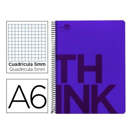 Bloc Din A6 Liderpapel serie Think cuadricula 5 mm violeta