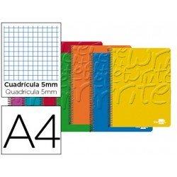 Bloc Din A4 espiral Microperforado CON CUATRO TALADROS O AGUJEROS Tapa cartoncillo impreso serie Classic Liderpapel