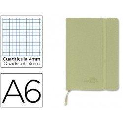 Cuaderno Liderpapel Din A6 encolada Tapa simil piel