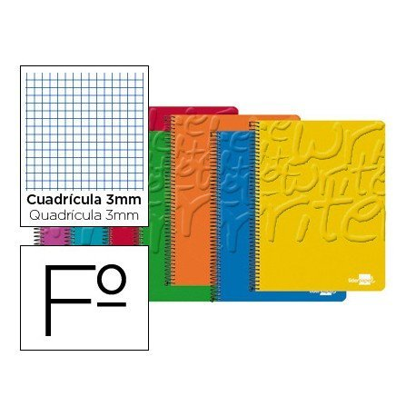 Bloc Liderpapel folio Write cuadricula 3 mm