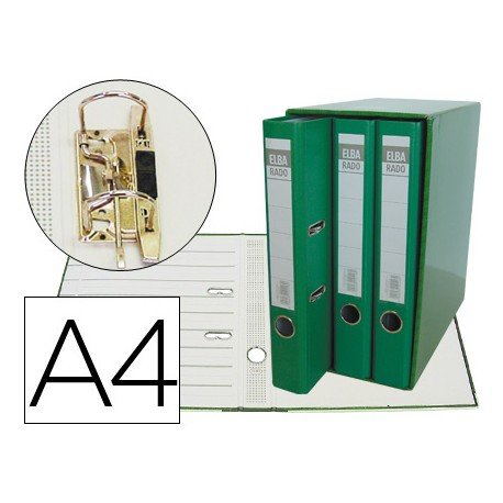 Modulo con 3 archivadores Elba de palanca Color Verde