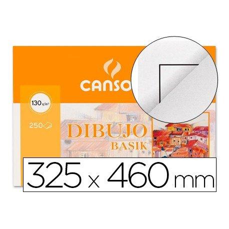 Papel dibujo Canson 325x460 mm gramaje 130g/m2
