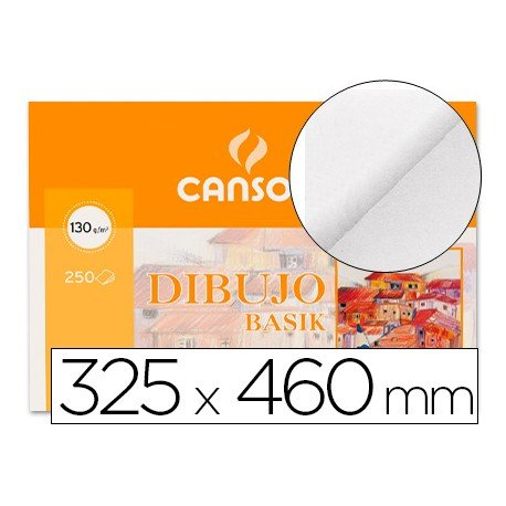 Papel dibujo Canson din a3 130 g/m2