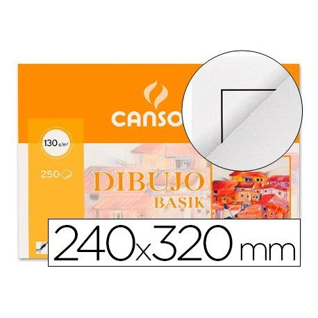 Papel dibujo Canson din a4 130 g/m2