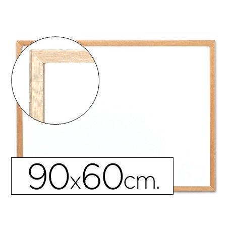 Pizarra Q-Connect Blanca Melamina con marco de madera 90x60 cm