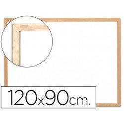 Pizarra Blanca Melamina con marco de madera 120x90 Q-Connect