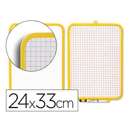 Pizarra blanca doble cara 24x33 cm