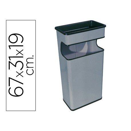 Cenicero papelera Sie gris 40 L
