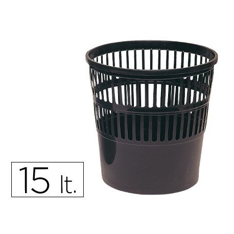 Papelera plastico rejilla 15 L