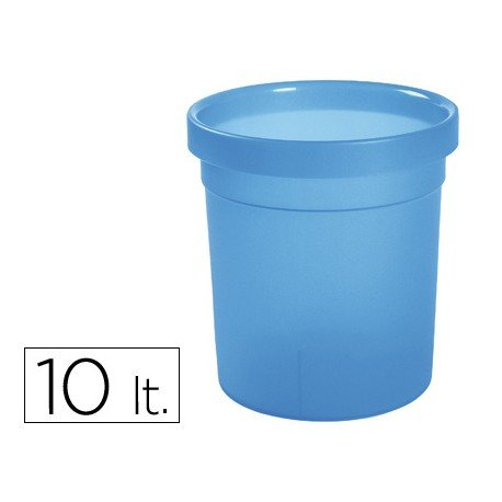 Papelera plastico Offisys azul 10 L
