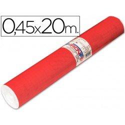 Aironfix Rollo Adhesivo 45cm x 20mt Unicolor Rojo Mate Claro