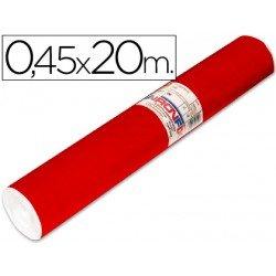 Aironfix Rollo Adhesivo 45cm x 20mt Unicolor Rojo Brillo
