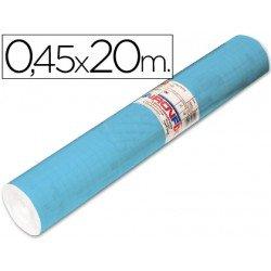 Aironfix Rollo Adhesivo 45cm x 20mt Unicolor Azul Mate Claro