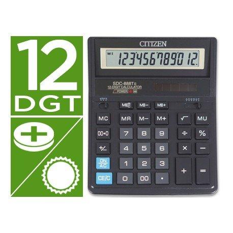 Calculadora Sobremesa Citizen SDC-888XBK 12 dígitos