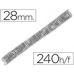 Espiral metalica Q-connect paso 64 28 mm