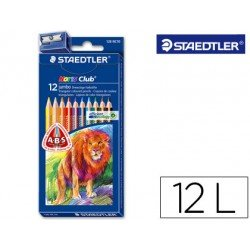 Lapices de colores Staedtler modelo Noris Club triangulares con 12 lapices finos