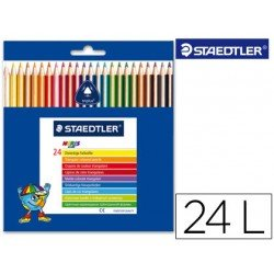 Lapices de colores Staedtler modelo Noris Club triangulares con 24 lapices finos