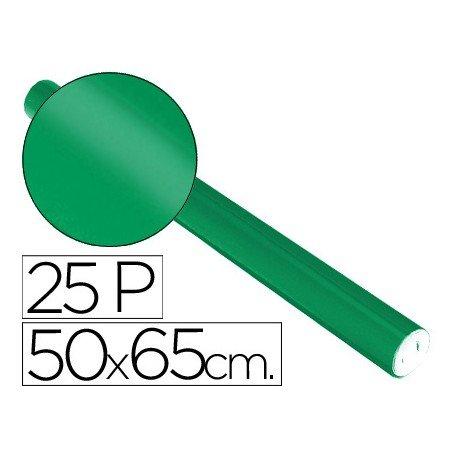 Papel metalizado Sadipal rollo 25 pliegos verde 65g/m2 50x16,25 m
