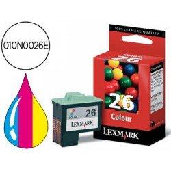 Cartucho Lexmark 010N0026E Nº 26 Tricolor