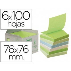 Bloc de notas adhesivas quita y pon recicladas Post-it ®