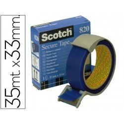 Cinta Adhesiva Scotch precinto postal azul
