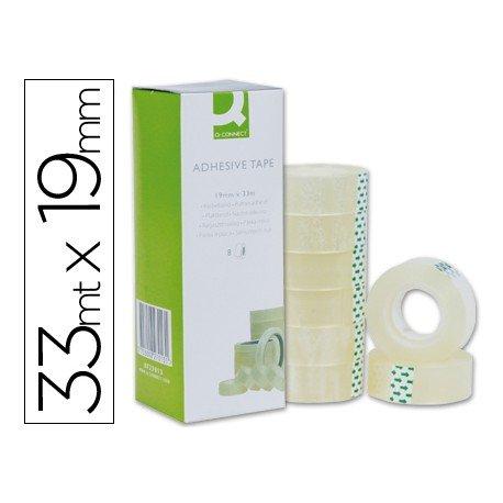 Cinta adhesiva Q-Connect 33 mt x 19 mm