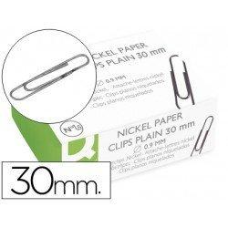 Clips niquelados Nº 1,5 Q-Connect 30 mm
