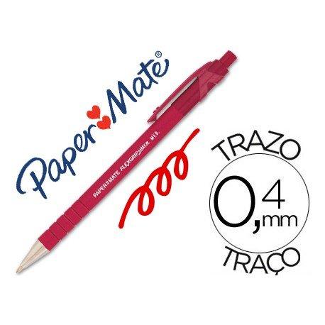 Boligrafo marca Papermate Flexgrip rojo 0,4 mm