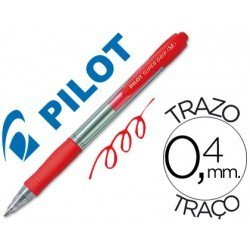 Boligrafo Pilot Super Grip Rojo 0,4 mm