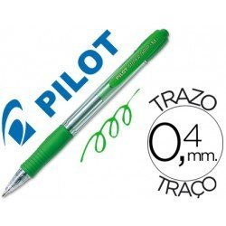 Boligrafo Pilot Super Grip verde 0,4 mm