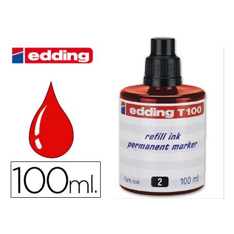 Tinta permanente rotulador Edding T-100 rojo