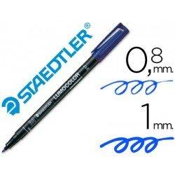 Rotulador Retroproyección Permanente Staedtler Lumocolor 317 Azul Punta Superfina Redonda