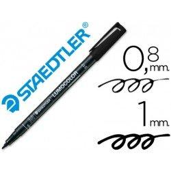 Rotulador Staedtler lumocolor negro . Rotulador Permanente