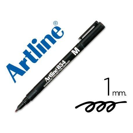 Rotulador retroproyección Artline EK-854 Permanente Negro Punta Redonda