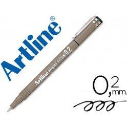 Rotulador Artline calibrado micrometrico negro 0,2 mm