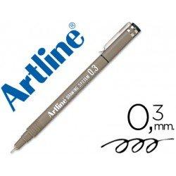 Rotulador Artline calibrado micrometrico negro 0,3 mm