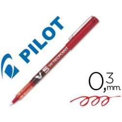 Rotulador Pilot V-5 0,3 mm Rojo