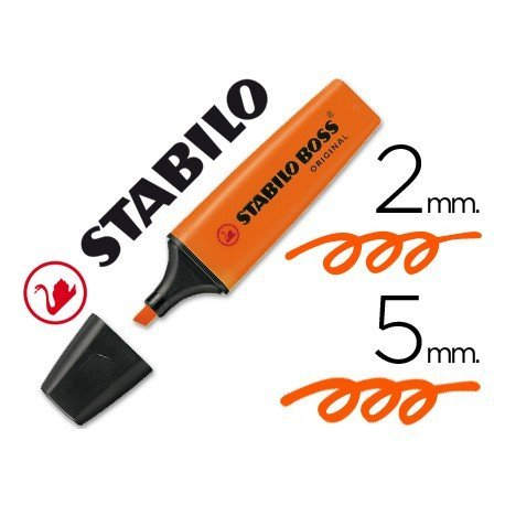 Rotulador Stabilo Boss 70 naranja