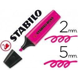 Rotulador Stabilo Boss 70 rosa