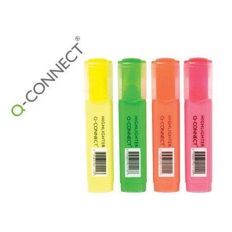Rotuladores fluorescentes Q-Connect 4 colores