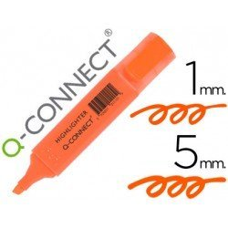 Rotulador fluorescente Q-Connect naranja