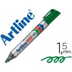 Rotulador Permanente Artline 107 Verde Punta Redonda