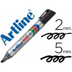 Rotulador Permanente Artline 109 Negro Punta Biselada