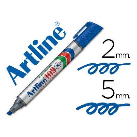 Rotulador Permanente Artline 109 Azul Punta Biselada