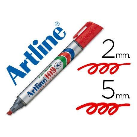 Rotulador Permanente Artline 109 Rojo Punta Biselada